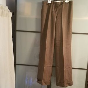 J CREW wool trouser pants, brown, lined, size 4